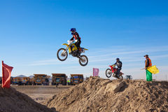Competitions on motorcycle sport Stock Image