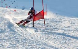 Competitions on mountain ski Stock Photos