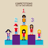 Competitions pixel design Stock Photos