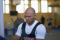 Competitions on powerlifting Royalty Free Stock Image