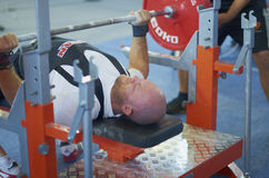 Competitions on powerlifting. The open championship of Moscow region AWPC/WPC in powerlifting and bench press, deadlift and the national press of the «Promotion Stock Photos