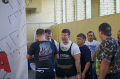 Competitions on powerlifting Stock Image