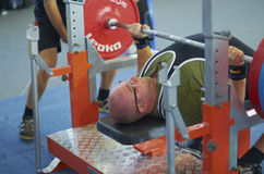 Competitions on powerlifting Royalty Free Stock Images