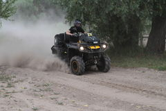 Competitions and quad bikes. Kyiv stage of the Can-Am Quest Cup Kyiv team competition 2017, Zabire, Kyiv region, Ukraine Stock Photo