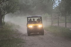 Competitions and quad bikes. Kyiv stage of the Can-Am Quest Cup Kyiv team competition 2017, Zabire, Kyiv region, Ukraine Stock Photography