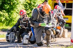 Competitions rescuers royalty free stock photography