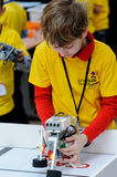 Competitions of robots among school students Stock Photography