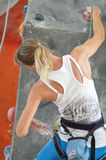 Competitions in rock climbing Stock Photos