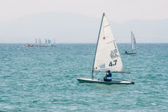 Competitions sailing in the bay of of Pomorie Stock Photography