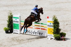 Competitions in show jumping CSI3 Vivat Stock Images