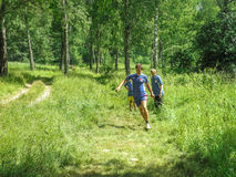 Competitions in sport orienteering at a tourism Convention in the Kaluga region of Russia. Stock Photo