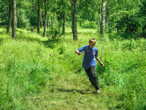 Competitions in sport orienteering at a tourism Convention in the Kaluga region of Russia. Stock Image