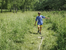 Competitions in sport orienteering at a tourism Convention in the Kaluga region of Russia. Stock Photography
