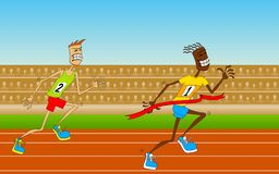Competitions on track-and-field Royalty Free Stock Photography