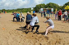 Competitions in tug of war Royalty Free Stock Images