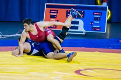 Competitions on wrestling Stock Image