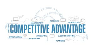 competitive advantages diagram illustration royalty free stock image