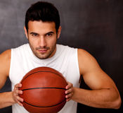 Competitive basketball player Stock Photos