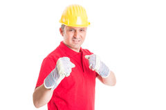 Competitive builder or contractor Royalty Free Stock Photography