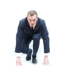 Competitive business man Royalty Free Stock Images