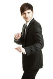 Competitive business man Stock Images
