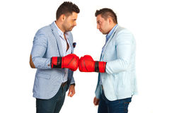 Competitive business men Royalty Free Stock Photography