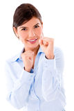 Competitive business woman Royalty Free Stock Image