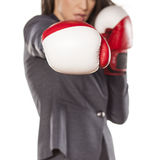 Competitive business woman Royalty Free Stock Images