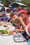 Competitive Eating: Coogee Beach Festival royalty free stock photography