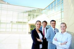 Competitive employees Royalty Free Stock Photo