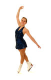 Competitive Figure Skater Smiling as she Poses Royalty Free Stock Photography
