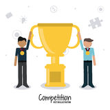 Competitive icon design Royalty Free Stock Images