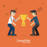 Competitive icon design Royalty Free Stock Image