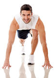 Competitive male athlete Stock Images
