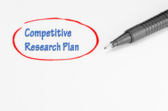 Competitive Research Plan - Business Concept Royalty Free Stock Photography