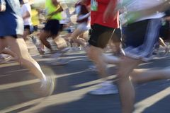 Competitive Runners Stock Image