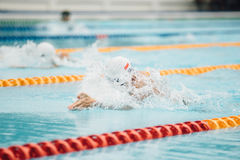 Competitive Swimmer  Royalty Free Stock Images