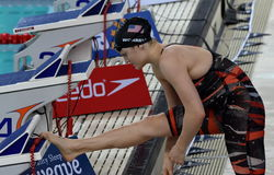 Competitive swimmer WORRELL Kelsi USA Stock Photography