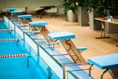 Competitive swimming pool Royalty Free Stock Images