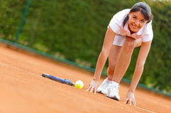 Competitive tennis player Stock Photography