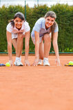 Competitive tennis player Royalty Free Stock Image