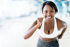 Competitive woman running Stock Photography