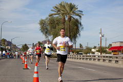 Competitor in the 2010 Phoenix Marathon Stock Photo