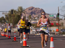 Competitor in the 2010 Phoenix Marathon Stock Image