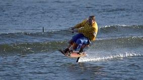 World Water Ski Show Tournament - Huntsville, Ontario, Canada on September 8, 2018 stock photo