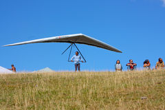 Competitor of the Dutch Open-2010 hang gliding com Stock Photography