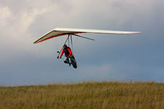 Competitor of the Dutch Open-2010 hang gliding com Royalty Free Stock Images