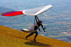Competitor of the Dutch Open-2010 hang gliding com Stock Image