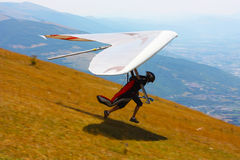Competitor of the Dutch Open-2010 hang gliding com Royalty Free Stock Photo