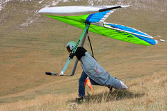 Competitor of the Dutch Open-2010 hang gliding com Royalty Free Stock Image